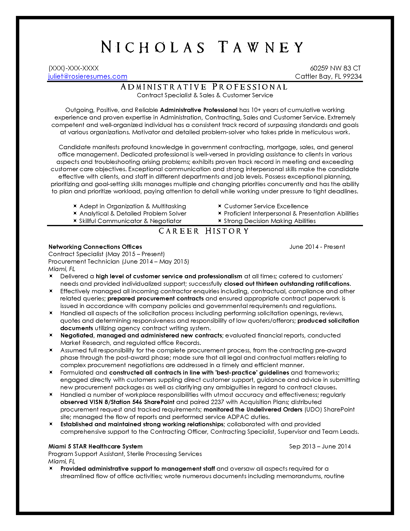 RRTRS Customer Service Resume Sample_Page_1